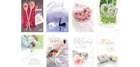 Hochzeitskarte 80ST sort. 99-9180 Hochzeit (St. 0,40 Euro) Produktbild