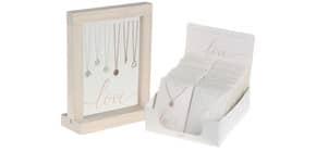 Halskette versilbert und rosévergoldet CRYSTALS 800510 Paket Produktbild