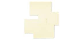 """Biglietti con busta Ellebi - Sadoch Ivory """"formato 9"""" 9x14 cm avorio Conf. 100 pezzi - 8319AVO Immagine del prodotto"""