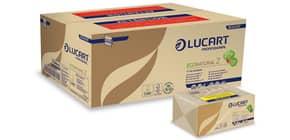 """Asciugamani piegati a """"Z"""" Lucart EcoNatural Z 23x23,5 cm avana conf. da 220 ff - 864036P Immagine del prodotto"""