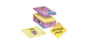 Foglietti Post-it® Notes Giallo Canary™ cf. 14 blocchetti + 2 gratis da 90 ff - 6655SSCY-VP16 Immagine del prodotto
