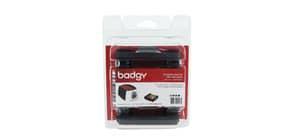 Kit di stampa per badge Evolis Badgy con 100 schede in Pvc da 0,76 cm - nastro multicolore - CBGP0001C Immagine del prodotto