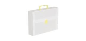 Valigetta portadocumenti DISPACO a una chiusura polionda cannettato bianco trasparente 27x38 cm dorso 8 cm - EURO8T Immagine del prodotto
