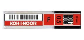 Astuccio mine per portamine KOH-I-NOOR 0,5mm - gradazione F 12 mine - E205-F Immagine del prodotto