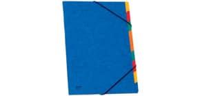 Ordnungsmappe A4 9tlg blau Produktbild