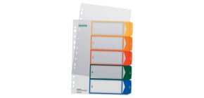 Ordnerregister 1-5 PP A4 trans Produktbild
