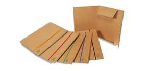 Cartelline con elastico piatto EURO-CART 25x35 cm dorso 4 cm avana conf. da 5 pezzi - XCPEECOAV Immagine del prodotto