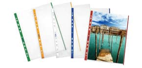 Buste a perforazione universale goffrate FAVORIT A4 banda rosso - linear conf. 10 pezzi - 100460030 Immagine del prodotto