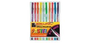 Penne gel KOH-I-NOOR 0,7mm colori pastello assortiti conf.10 - NAGP10P Immagine del prodotto