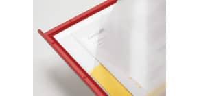 Pannello per leggìo da tavolo Q-Connect Quickfind rosso conf. 10 pezzi - KF04258 Immagine del prodotto