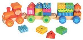Geschicklichkeitsspiel Zug mit Haus Produktbild