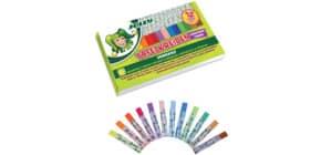 Tafelkreide 12 Stück gewickelt färbig Produktbild