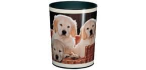 Papierkorb 13l Hunde LÄUFER 26551 H.30cm Kunstst. Produktbild