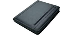 Schreibmappe Leder schwarz Produktbild
