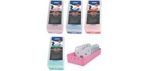 Lernkartei A8 4 Farben sortiert STYLEX 42668 Produktbild
