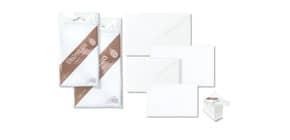 """Biglietti con busta Ellebi - Sadoch Dalmazia """"formato 4"""" 7,5x11 cm bianco Conf. 10 pezzi - 8034 Immagine del prodotto"""