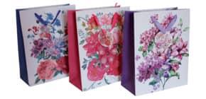 Geschenktragetasche Blumen sort. 41265 32x26x12cm Produktbild