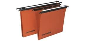 Cartelle sospese orizzontali per cassetti CARTESIO 38 cm fondo U 3 cm arancio Conf. 50 pezzi - 100/380 3 -B2 Immagine del prodotto