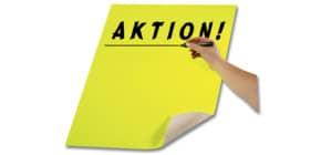 Plakatkarton 48x68 zitr.gelb FOLIA 65125 380g Produktbild