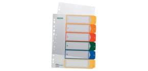 Ordnerregister 1-6 PP A4 trans Produktbild