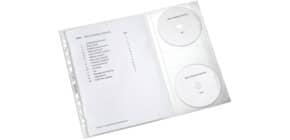 Klarsichthülle mit CD/DVD-Klappe, 5erPack Produktbild
