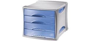 Schubladenbox 4 Laden blau Produktbild