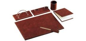 Set da scrivania classico Munari in similpelle bruciato 6 pezzi - 22028MU2300 Immagine del prodotto
