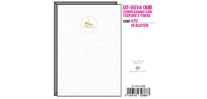 """Biglietti augurali Kartos """"Buon Compleanno"""" texture con torta oro 07551400B Immagine del prodotto"""