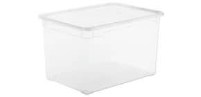 Contenitore Rotho Clear Box in PPL impilabile trasparente - 46 L 55x37,5x31,5 cm - F707808 Immagine del prodotto