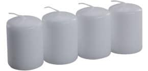 Stumpenkerze zu 4 weiß Produktbild