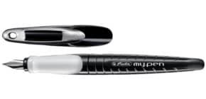 Penna stilografica Herlitz My.pen M bianco/nero 10999746 Immagine del prodotto