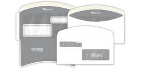 Buste con 2 finestre Pigna Envelopes FLY-Matic 2 80 g/m² 115x230 mm bianco conf. 1000 - 0224302 Immagine del prodotto