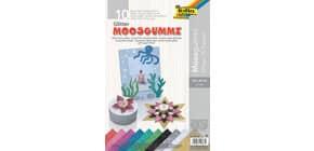 Moosgummi Glitter 10 Blatt sortiert 2mm 20.29 cm FOLIA 239109 Produktbild