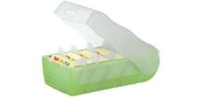 Lernkartei A8 CROCO tr.grün Produktbild