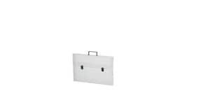 Valigetta portadisegni DISPACO a due chiusure polionda cannettato bianco trasparente 52x73 cm dorso 4 cm - ECO3T Immagine del prodotto