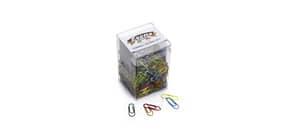 Fermagli colorati metallizzati Leone N° 2 - 26 mm in barattolo da 500 pezzi - assortiti FX50 Immagine del prodotto