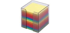 Zettelbox befüllt buntes Papier Produktbild