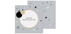Weihn.Zelltuchserviette 33x33cm LA VIDA 130141 Frohe Weihnachten Produktbild