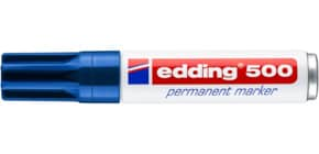 Marcatore permanente edding 500 punta scalpello 2-7 mm blu 4-500003 Immagine del prodotto