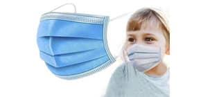 Mascherine chirurgiche monouso per bambini tipo II - Certificazione CE - colore celeste - Conf. 10 pezzi - SP101 Immagine del prodotto
