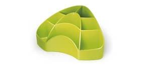 Portaoggetti da scrivania ARDA Multipot Mydesk polistirene verde 8 scomparti 18,5x12,3x9 cm - 7121V Immagine del prodotto