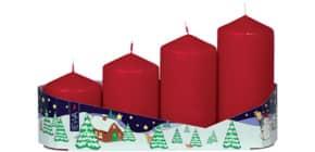 4 Advent-Stumpenkerzen Produktbild