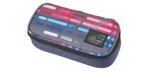 Schüleretui Classic lines blue pink WALKER 49164/146   1-Stock Produktbild