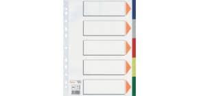 Farbregister 5tl PP A4 grau Produktbild