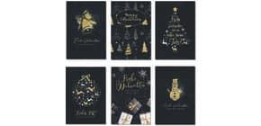 Weihnachtskarte Glimmer sort. 22-2808   Bild Produktbild