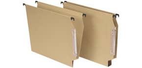 Cartelle sospese laterali per armadi AVANA 33 cm fondo a U 3 cm avana Conf. 50 pezzi - 064 F Beta 3 -B1 Immagine del prodotto