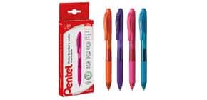 Penna roller a scatto Pentel EnerGel X 0,7 mm assortiti 4 pezzi - 0100786 Immagine del prodotto