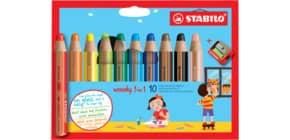 Farbstiftetui Woody 10 Stück sortiert Produktbild