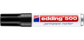 Marcatore permanente edding 500 punta scalpello 2-7 mm nero 4-500001 Immagine del prodotto