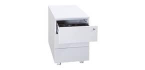Cassettiera per cartelle sospese KUBO 3 cassetti su ruote 40x59x54 cm grigio 3903 G Immagine del prodotto
